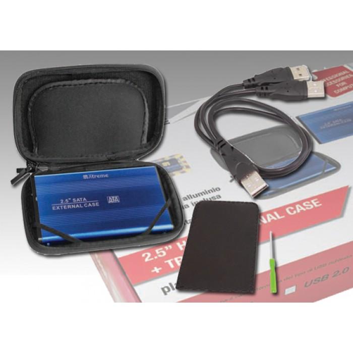 BOX HDD 2.5 SATA USB 2.0 esterno + Borsetta