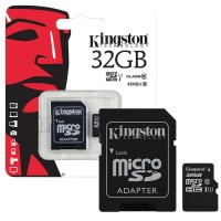 MicroSD Kingston 32GB  HC Class 10 con adattatore SD