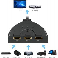 Switch  Splitter HDMI con  Cavo 3 ingressi 1 uscita  HD1080P/3D con interruttore