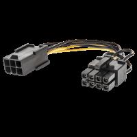 Cavo di alimentazione per PCIe ATX - 1x6 poli F a 1x8 poli M