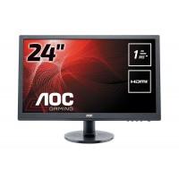 "Monitor Led 24"" AOC E2460SH Full HD Multimediale"
