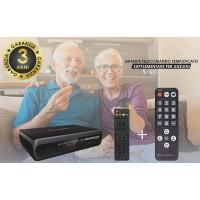 Decoder Digitale Terrestre T2265 HD DVB-T2 con registrazione e doppio telecomando scart/Hdmi