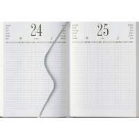 Agenda Planning giornaliera 2021 per prenotazione ristoranti , chiese in similpelle 21x29,7 nera blocco fisso