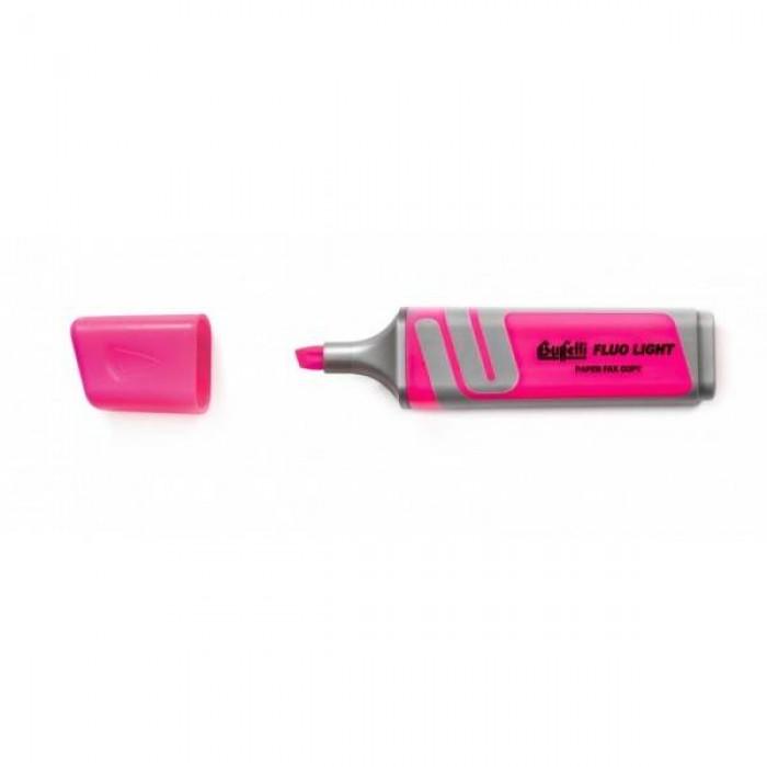 Evidenziatore fluorescente Buffetti - rosa - Tratto 2-5 mm - Punta a scalpello