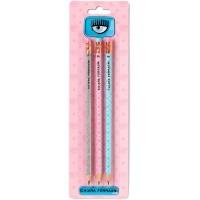 Set di 3 matite assortite Chiara Ferragni x Pigna