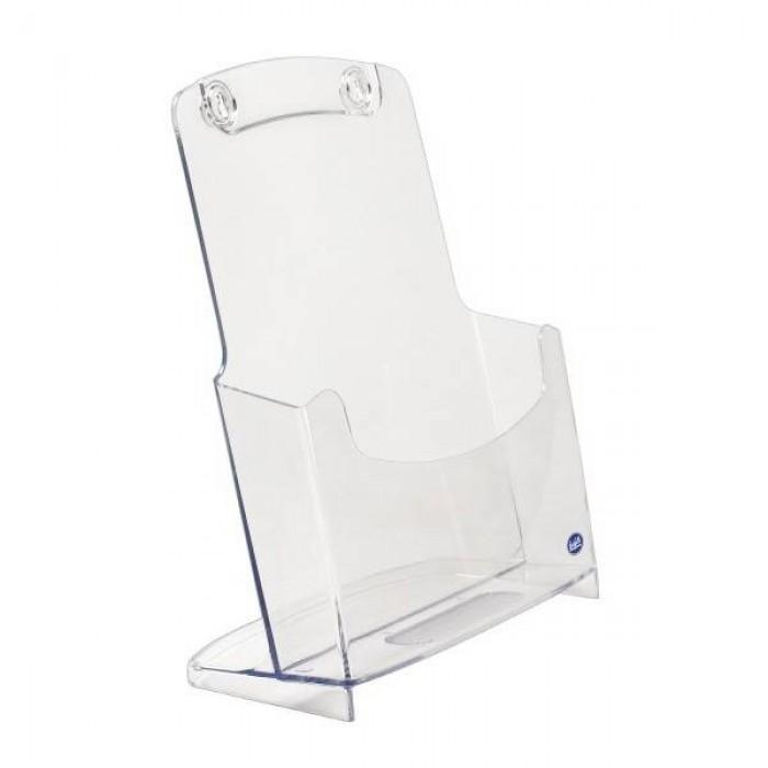 Portadepliant in plastica rigida trasparente di Buffetti 1 scomparto A/4