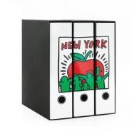 Set tre registratori Image - Formato Protocollo - Dorso 8 cm - Keith Haring - Mela New York Buffetti