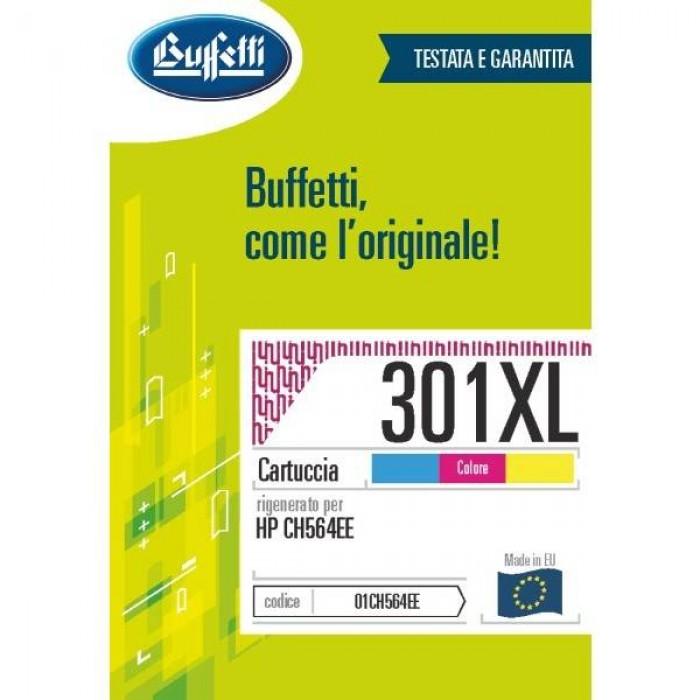 Cartuccia Inchiostro Buffetti per HP 301XL colore