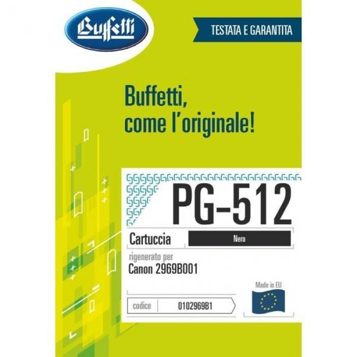 Cartuccia Inchiostro Buffetti per Canon PG-512 nera