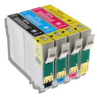 Kit 4 Cartucce Inchiostro Compatibile Epson T0711 T0712 T0713 T0714 Tutti i colori