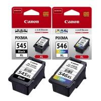 Kit 2 Cartucce Inchiostro Originale Canon PG545XL nera + CL546XL colore