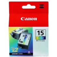Cartuccia Inchiostro Originale Canon BCI-15 Color 2pz