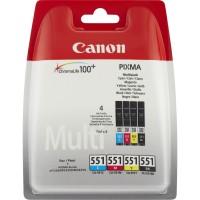 Multipack inchiostri originali Canon CLI-551 ciano magenta giallo nero