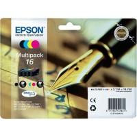 Multipack Inchiostri Originali Epson T16 nera + colori