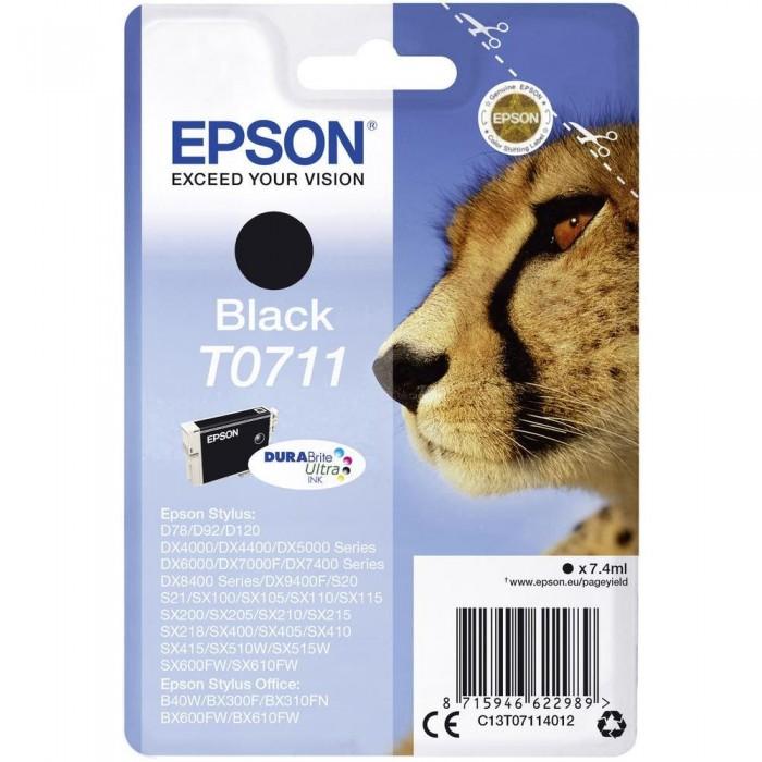 Cartuccia Inchiostro Originale Epson T0711 nera