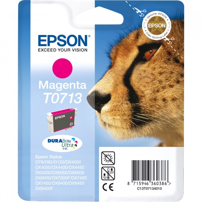 Cartuccia Inchiostro Originale Epson T0713 magenta