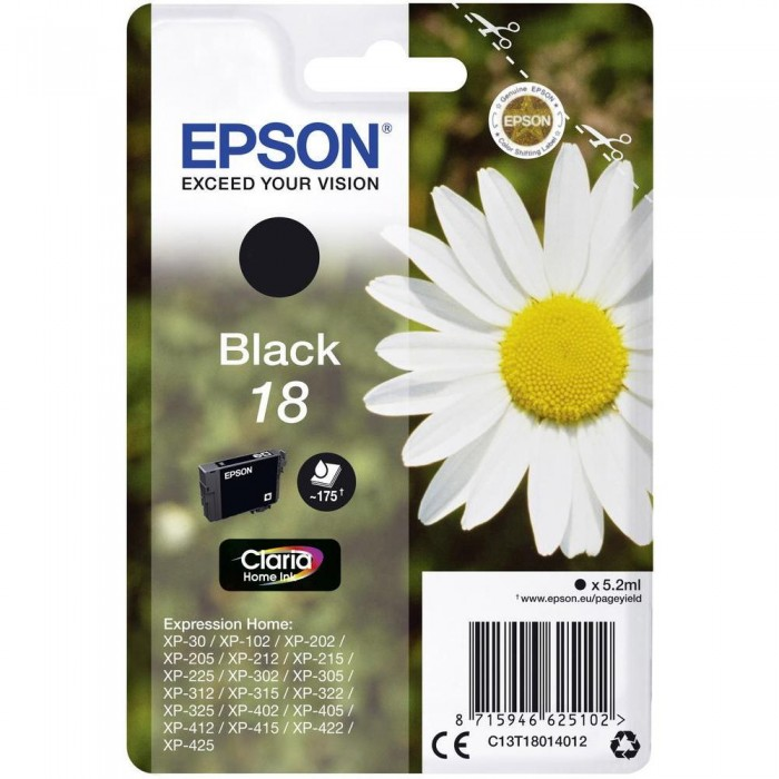 Cartuccia Inchiostro Originale Epson T18 nera