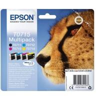 Multipack Inchiostri Originali Epson T0715 nera + colori