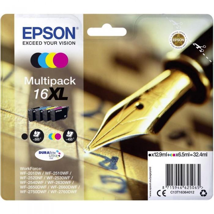 Multipack Inchiostri Originali Epson T16XL nera + colori