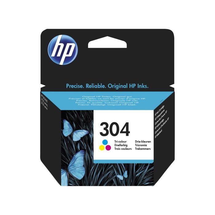 Cartuccia ricambio inchiostro originale HP 304 a colori