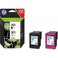 Kit 2 Cartucce Inchiostro Originali HP 301 nera + 301 colore