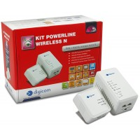 Power Line Digicom PL500WK-A01 - Router wireless - switch a 2 porte V500