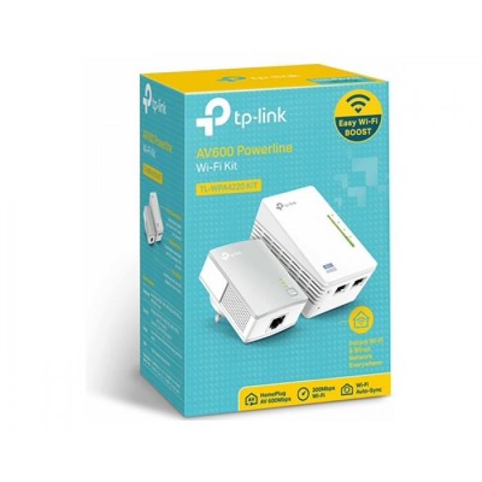 Kit Powerline Wifi AV600 Mbps Tp-Link TL-WPA4220 con 2 porte ethernet