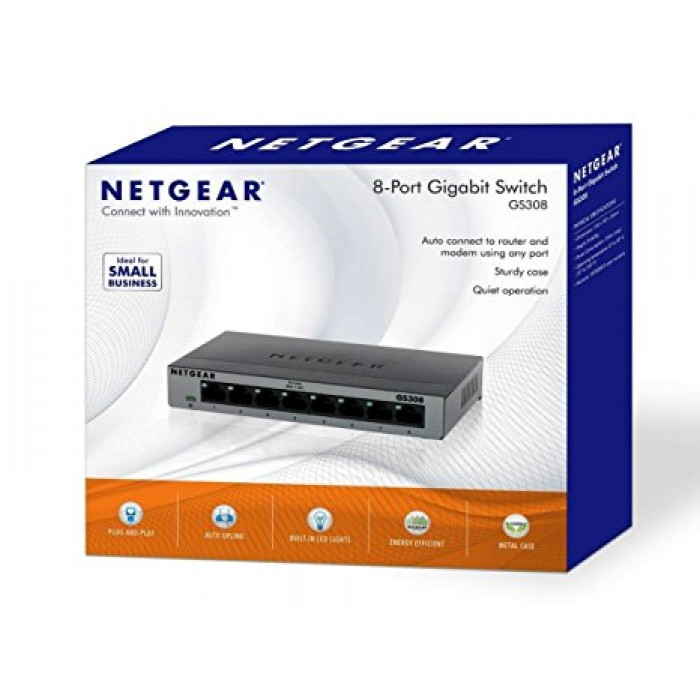 Hub Switch di rete 5 Porte 10/100/1000 Netgear GS308