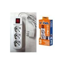 Multipresa elettrica con interruttore 3 posti