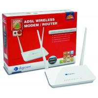 Digicom Modem/Router ADSL2+ Wireless N 300 per navigazione Internet, Gaming e lavoro
