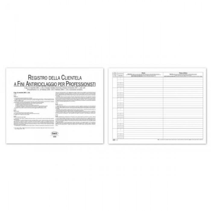 Registro Buffetti della clientela a fini antiriciclaggio per Professionisti e Revisori contabili 23 pagine