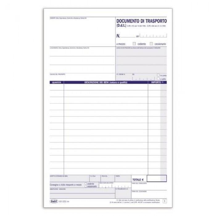 Registro Blocco documento di trasporto -  50 fogli - 21,5x14,8 cm Buffetti