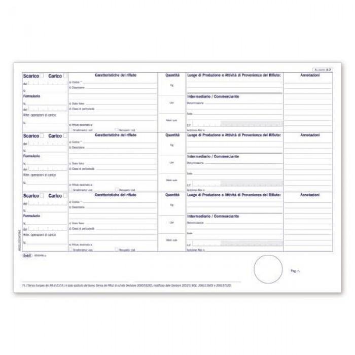 Registro Buffetti Stupefacenti - Entrate - Uscite stupefacenti e sostanze psicotrope per farmacie -  50 pagine