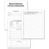 Registro Buffetti per Operazioni di pulizia e sanificazione 28 pagine f.to 31x24,5 cm