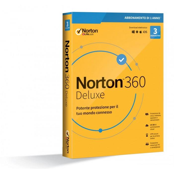 Symantec Norton 360 Deluxe 2020 3 dispositivi 25GB