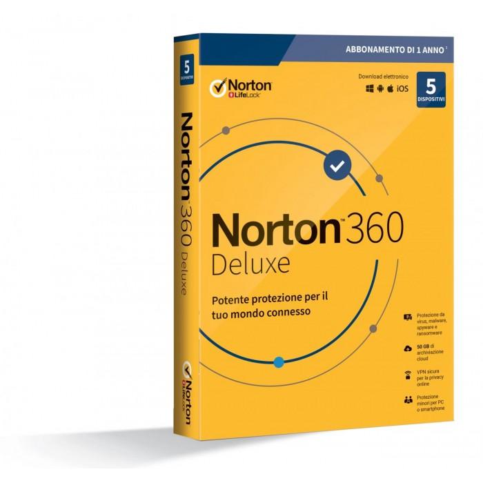 Symantec Norton 360 Deluxe 2020 5 dispositivi 25GB