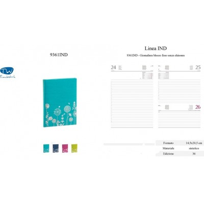 Agenda giornaliera 2022 con copertina rigida vari colori f.to14,5x20,5 di Buffetti