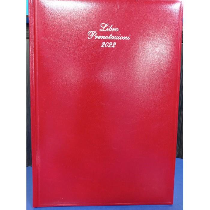 Agenda giornaliera 12 mesi libro prenotazioni eventi ristoranti 2022 21x29,7 in similpelle rossa