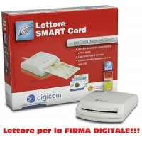 Lettore di Smart Card DIGICOM 8E4479 Firma Digitale CARTA REGIONALE Servizi CRS Win  Mac