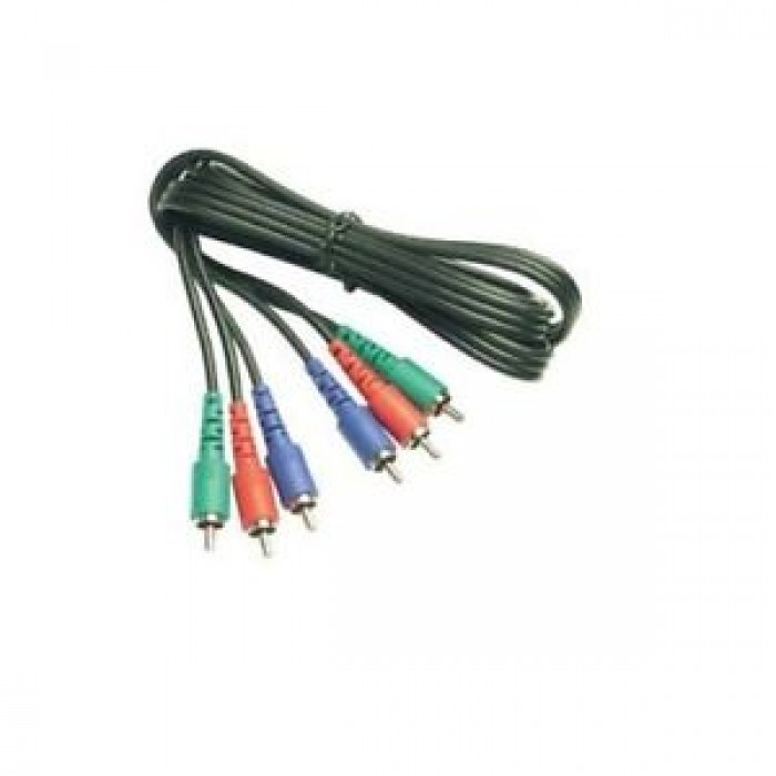 CAVO VIDEO 3 SPINE RCA / 3 SPINE RCA SEGNALE RGB (ROSSO VERDE BLUE) VG176 3MT