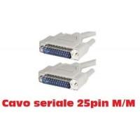 CAVO SERIALE D-SUB 25 POLI M / M MATSUYAMA CH075 DA 10M!CAVO SERIALE 25 PIN M/M!