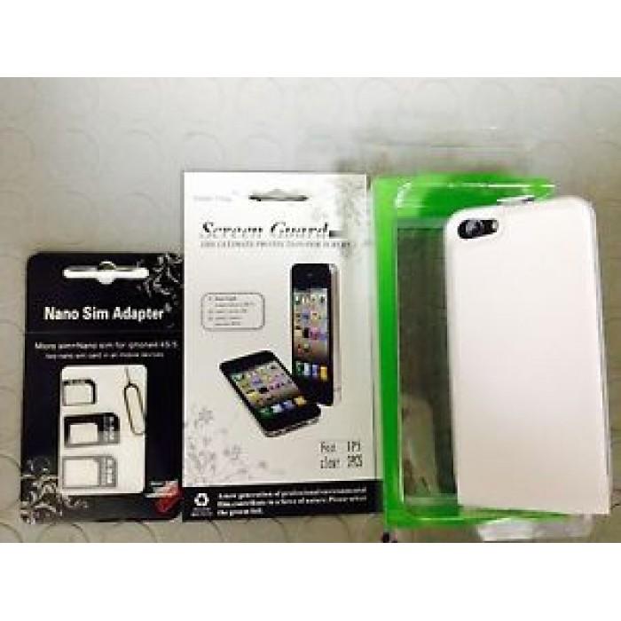 Kit x Apple iPhone 5 Flipcase magnetica + 2pellicole protettive + adattatori Sim