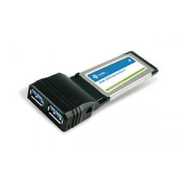 SCHEDA PER PORTATILI NOTEBOOK PCMCI EXPRESS CARD CON 2 PORTE USB 3.0