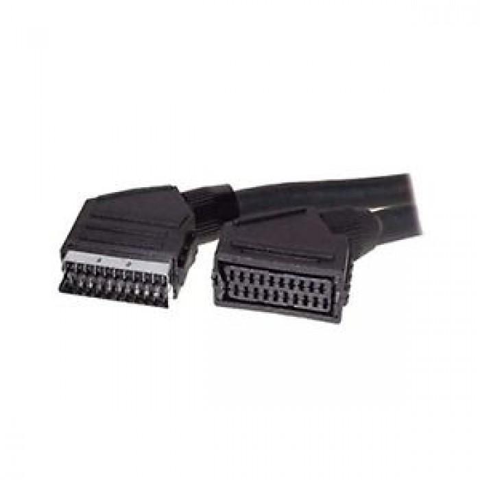 Cavo prolunga SCART audio video Maschio femmina 21 pin 1,5Mt alta qualità