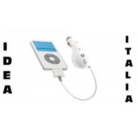 ALIMENTATORE CARICABATTERIA DA AUTO - IDEA ITALIA  CHR1IPHONE PER IPOD IPHONE