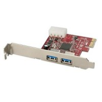 SCHEDA INTERFACCIA PCI EXPRESS 2 PORTE USB 3.0 ESTRENE LINDY 51118 - NORMALE E LOW