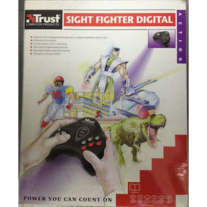 JOYPAD GAMEPAD TRUST 10176  PC CONNETTORE DA 15 PIN - TRUST SIGHT FIGHTER  DIGITAL