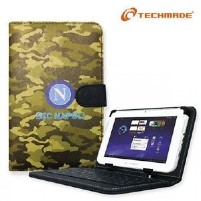 Techmade Custodia in Ecopelle con Tastiera Integrata per Tablet 7 SSC Napoli