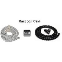 COPRICAVO RACCOGLI CAVI MANGIA CAVO NASCONDI 1,5 METRI A SPIRALE 22-24mm
