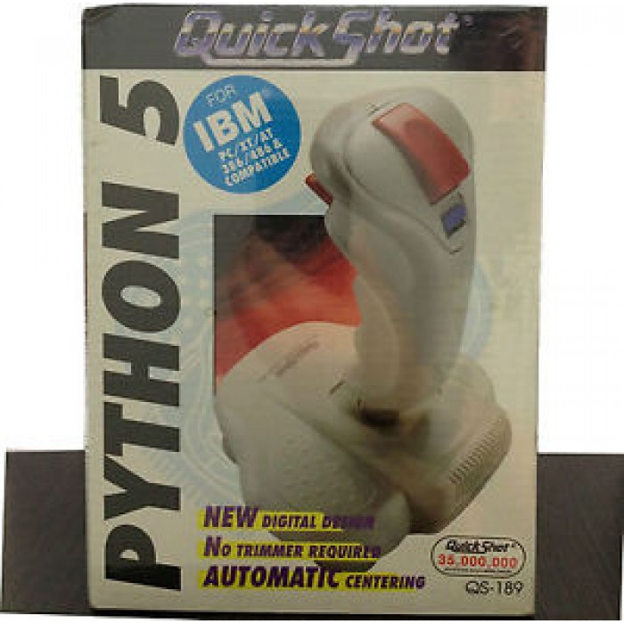 JOYSTICK PER COMPUTER QUICK SHOT PYTHON 5 PER IBM PC / XT / AT / 386 / 486